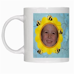 Grandma s Sweet Honey Bees Mug Blue By Chere s Creations   White Mug   Uzs69d0hjswx   Www Artscow Com Left