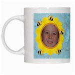 Grandma s Sweet Honey Bees Mug Blue - White Mug
