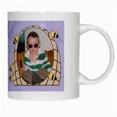 Grandma s Sweet Honey Bees Mug Purple 3 By Chere s Creations   White Mug   Rex9yu611g7t   Www Artscow Com Right