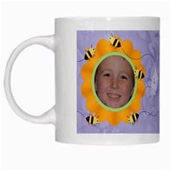 Grandma s Sweet Honey Bees Mug Purple 4 By Chere s Creations   White Mug   Bi6sxj0qyo45   Www Artscow Com Left