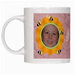 Grandma s Sweet Honey Bees Mug Peach 4 - White Mug