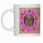 Grandma s Sweet Honey Bees Mug Peach 3 - White Mug