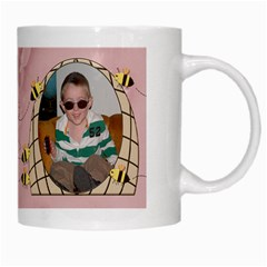 Grandma s Sweet Honey Bees Mug Peach 3 By Chere s Creations   White Mug   Nv1b7dx7jv6m   Www Artscow Com Right