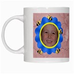 Grandma s Sweet Honey Bees Mug Peach 2 - White Mug