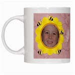 Grandma s Sweet Honey Bees Mug Peach - White Mug