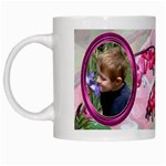 Bleeding Heart Mug Pink - White Mug