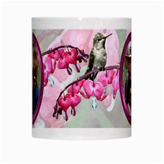 Bleeding Heart Mug Pink By Chere s Creations   White Mug   Bre0p272n7iq   Www Artscow Com Center