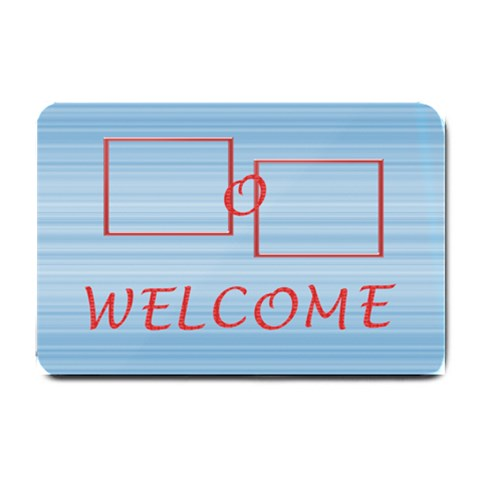 Welcome Blue By Daniela   Small Doormat   7u3p73ozq9fn   Www Artscow Com 24 x16 Door Mat - 1
