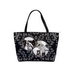Elegant Black & Silver Shoulder Handbag - Classic Shoulder Handbag