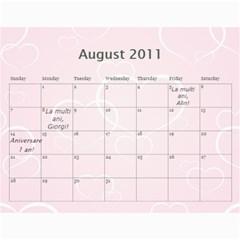 Calendar Eliza By Damaris   Wall Calendar 11  X 8 5  (12 Months)   802bjewdnfi1   Www Artscow Com Aug 2011