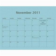 Calendar Eliza Var Finala By Damaris   Wall Calendar 11  X 8 5  (12 Months)   C4b58nshr7gp   Www Artscow Com Nov 2011