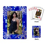 gray light w/snowflakes playing cards - Playing Cards Single Design