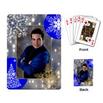 gray lights w/snowflakes playing cards - Playing Cards Single Design