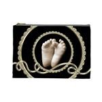 Liquid gold Footprints Cosmetic Bag Large - Cosmetic Bag (Large)