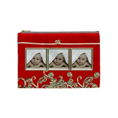 Triple Trouble Liquid Gold Cosmetic Bag Medium By Catvinnat   Cosmetic Bag (medium)   95fuzwnu1h94   Www Artscow Com Front