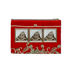 Triple Trouble Liquid Gold Cosmetic Bag Medium By Catvinnat   Cosmetic Bag (medium)   95fuzwnu1h94   Www Artscow Com Back