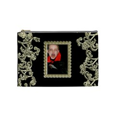 Count Dracula Liquid Gold Cosmetic Bag Medium By Catvinnat   Cosmetic Bag (medium)   Dkr8oazpnrp4   Www Artscow Com Front