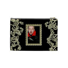 Count Dracula Liquid Gold Cosmetic Bag Medium By Catvinnat   Cosmetic Bag (medium)   Dkr8oazpnrp4   Www Artscow Com Back