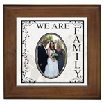 We Are Family Framed Tile