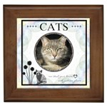 Cats Can Steal Your Heart Framed Tile