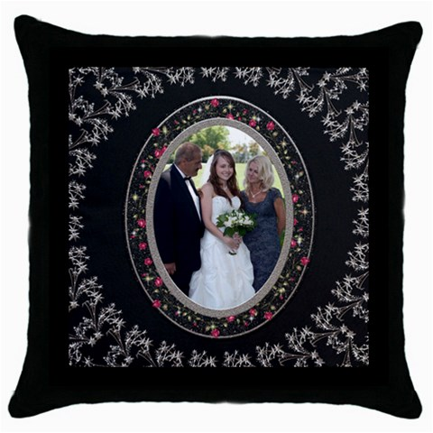 Elegant Throw Pillow Case By Lil    Throw Pillow Case (black)   7ugqq0glgxm0   Www Artscow Com Front