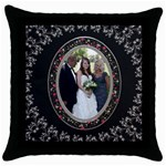 Elegant Throw Pillow Case - Throw Pillow Case (Black)