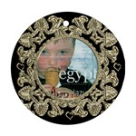 Liquid Gold Round Ornament - Ornament (Round)