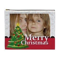Merry Christmas By Wood Johnson   Cosmetic Bag (xl)   Jsl8w61o0wod   Www Artscow Com Front