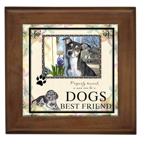 Dogs Best Friend Framed Tile By Lil    Framed Tile   Rlskwi2afk0b   Www Artscow Com Front