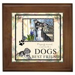 Dogs Best Friend Framed Tile