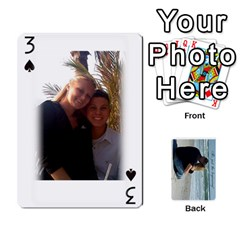 Carlie And Jaramie Playing Cards By Doug Trimble   Playing Cards 54 Designs   X3yel3w17k9x   Www Artscow Com Front - Spade3