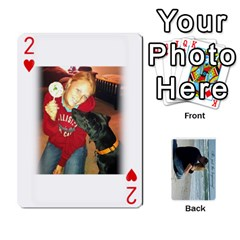 Carlie And Jaramie Playing Cards By Doug Trimble   Playing Cards 54 Designs   X3yel3w17k9x   Www Artscow Com Front - Heart2