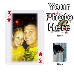 Carlie And Jaramie Playing Cards By Doug Trimble   Playing Cards 54 Designs   X3yel3w17k9x   Www Artscow Com Front - Heart3