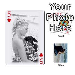 Carlie And Jaramie Playing Cards By Doug Trimble   Playing Cards 54 Designs   X3yel3w17k9x   Www Artscow Com Front - Heart5