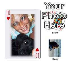 Carlie And Jaramie Playing Cards By Doug Trimble   Playing Cards 54 Designs   X3yel3w17k9x   Www Artscow Com Front - Heart10