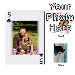 Carlie And Jaramie Playing Cards By Doug Trimble   Playing Cards 54 Designs   X3yel3w17k9x   Www Artscow Com Front - Club5