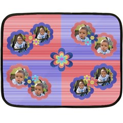 My Flowers By Daniela   Double Sided Fleece Blanket (mini)   Hfdrhyz26wrz   Www Artscow Com 35 x27 Blanket Front