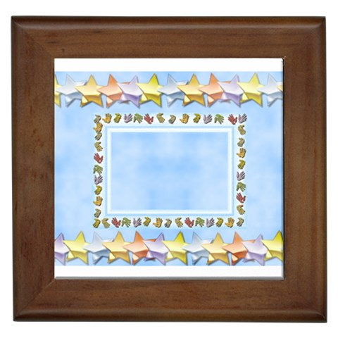 Happy Birthday Baby Boy   Framed Tile By Daniela   Framed Tile   Me2a0t4co4eb   Www Artscow Com Front