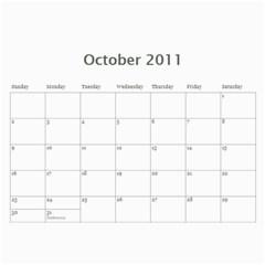 2011 Calendar By Jamie Kriegel   Wall Calendar 11  X 8 5  (12 Months)   Qk7ziqrzpn5k   Www Artscow Com Oct 2011