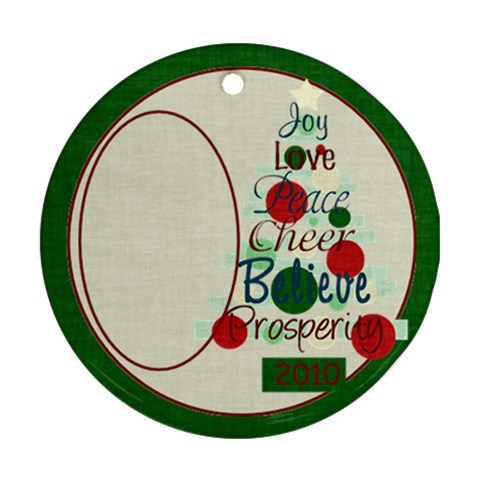 Christmas Inspiration Tree By Bitsoscrap   Ornament (round)   Qbo1kr3hr6b9   Www Artscow Com Front