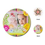 baby easter - Playing Cards (Round)