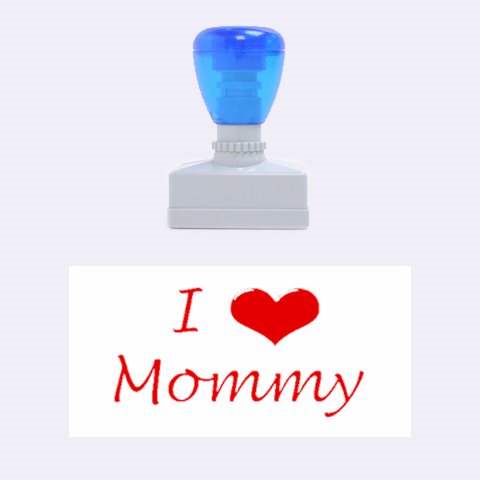 Love Mommy  By Daniela   Rubber Stamp (medium)   Dauj1lv5e7z5   Www Artscow Com 1.34 x0.71  Stamp