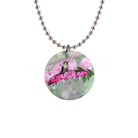 Bleeding Heart By Chere s Creations   1  Button Necklace   Yxc9q2w31khb   Www Artscow Com Front