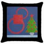 Christmas pillow - Throw Pillow Case (Black)