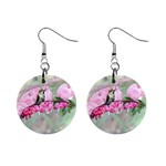 Bleeding Heart Ear Rings - 1  Button Earrings