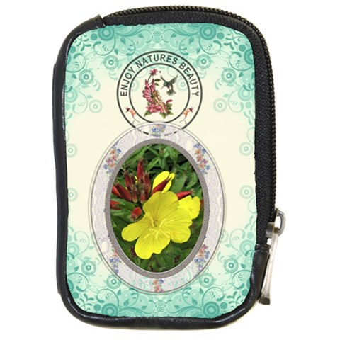 Enjoy Natures Beauty Compact Camera Case By Lil    Compact Camera Leather Case   Scrl1ya1dbpf   Www Artscow Com Front