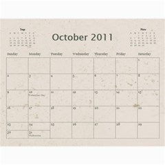 Michelle Master By Robyn Ramsay   Wall Calendar 11  X 8 5  (12 Months)   L6y237s0rkpk   Www Artscow Com Oct 2011