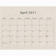 Michelle Master By Robyn Ramsay   Wall Calendar 11  X 8 5  (12 Months)   L6y237s0rkpk   Www Artscow Com Apr 2011