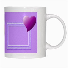 Purple Hearts Mug By Daniela   White Mug   Pfnb1px05v7y   Www Artscow Com Right