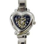 Golden Letter C Heart Watch - Heart Italian Charm Watch